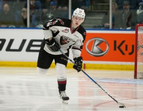 Bowen Byram of the Vancouver Giants. (Photo credit - Chris Relke)