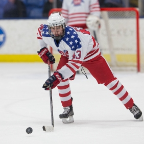 Jack Hughes of USA Hockey's NTDP. (Photo Credit - Rena Laverty and USA Hockey's NTDP