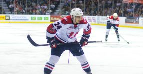 Dylan Cozens of the Lethbridge Hurricanes. (Photo credit: Erica Perreaux)
