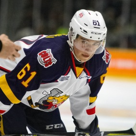 Ryan Suzuki of the Barrie Colts. (Miranda Zilkowsky Photography)