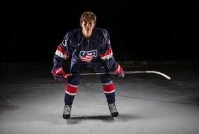 Projected first overall choice in the 2019 NHL Draft, Jack Hughes. (Photo Credit - Rena Laverty)