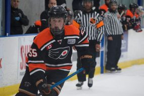 Brandt Clarke of the Don Mills Flyers. (Photo Credit: Max Lewis)
