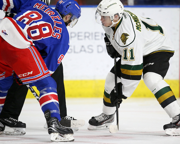 Connor McMichael of the London Knights. Photo by Luke Durda/OHL Images