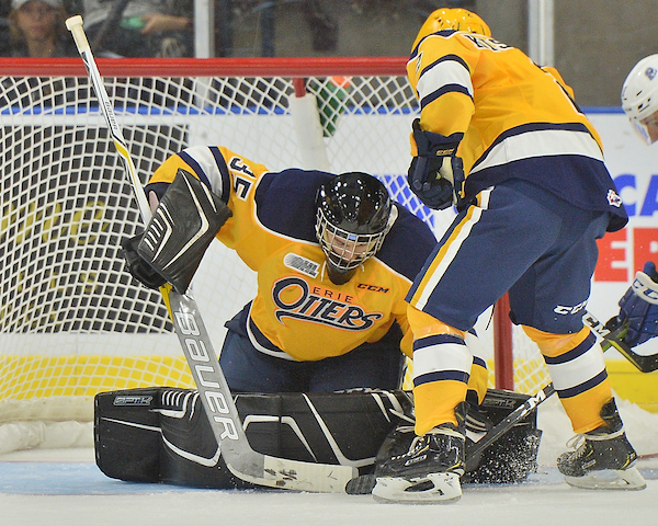 Noah Battagliaof the Erie Otters. Photo by Terry Wilson / OHL Images.