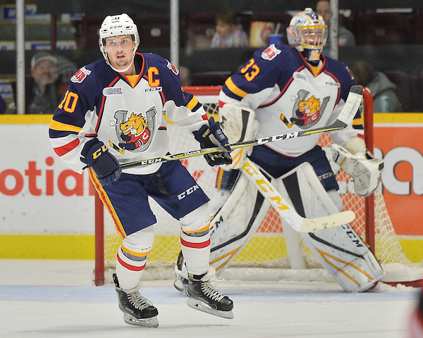 Justin Murray of the Barrie Colts. Photo by Terry Wilson / OHL Images.