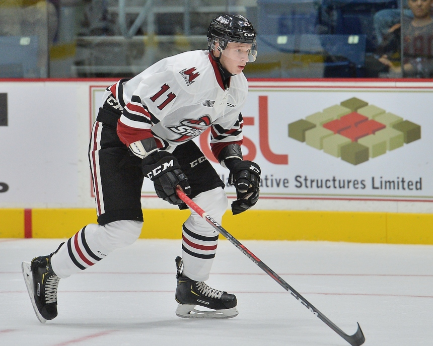 Danlil Chayka of the Guelph Storm. Photo by Terry Wilson / OHL Images.