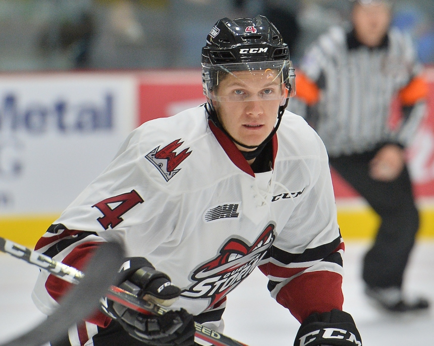 Owen Lalonde of the Guelph Storm. Photo by Terry Wilson / OHL Images.