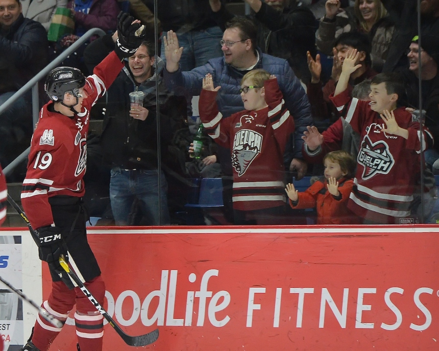 Isaac Ratcliffe of the Guelph Storm. Photo by Terry Wilson / OHL Images.