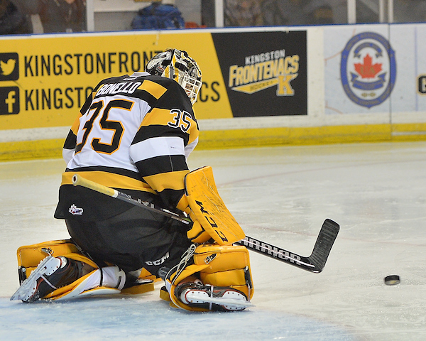 Brendan Bonello of the Kingston Frontenacs. Photo by Terry Wilson / OHL Images.