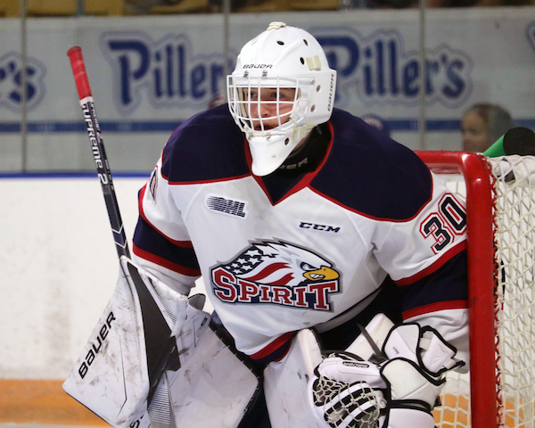 Tristan Lennox of the Saginaw Spirit. Photo by Natalie Shaver/OHL Images