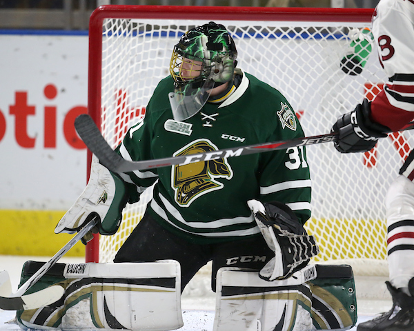 Jordan Kooy of the London Knights. Photo by Luke Durda/OHL Images
