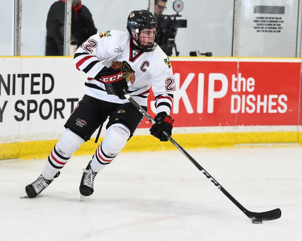Owen Power of the GTHL's Mississauga Reps. (Photo Credit: Aaron Bell, OHL Images)